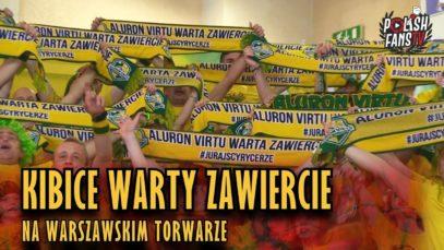 Kibice Warty Zawiercie na warszawskim Torwarze [siatkówka] (21.10.2018 r.)