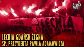 Lechia Gdańsk żegna śp. prezydenta Pawła Adamowicza [Sound Of Silence] (17.01.2019 r.)