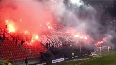 Oprawa GKS-u Tychy na meczu przyjaźni z ŁKS-em Łódź (13.04.2019 r.)