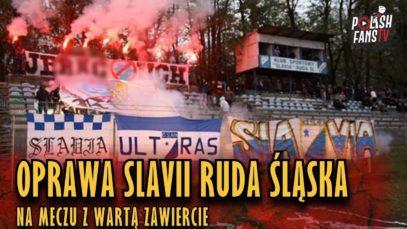Oprawa na meczu Slavia Ruda Śląska 1-1 Warta Zawiercie (20.10.2018 r.)