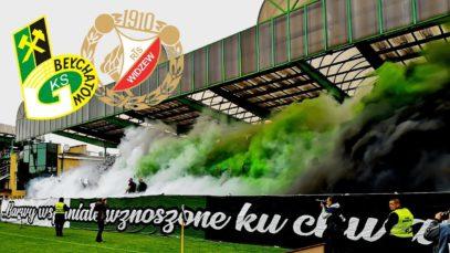Oprawa oraz doping GKS-u Bełchatów na meczu z Widzewem (12.05.2019 r.)