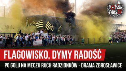 Flagowisko, dymy, radość po golu na meczu Ruch Radzionków- Drama Zbrosławice (18.08.2019 r.)