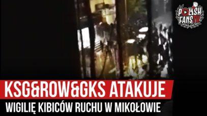 KSG&ROW&GKS atakuje wigilię kibiców Ruchu w Mikołowie (21.12.2019 r.)