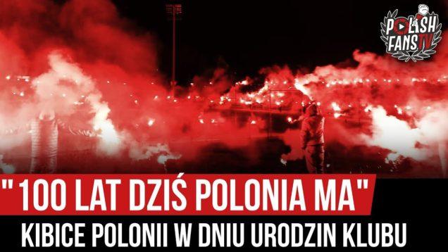 """""""100 LAT DZIŚ POLONIA MA"""" – kibice Polonii Bytom w dniu urodzin klubu (04.01.2020 r.)"""