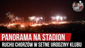 Panorama na stadion Ruchu Chorzów w setne urodziny klubu (20.04.2020 r.)