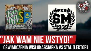 """""""Jak wam nie wstyd!"""" – oświadczenia Wisłoka&Siarka vs Stal [LEKTOR] (12.07.2020 r.)"""