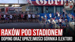 Raków pod stadionem – doping oraz uprzejmości Górnika [LEKTOR] (10.07.2020 r.)
