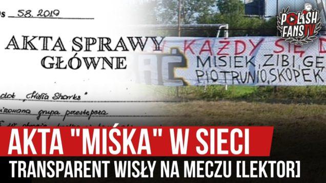 """Akta """"Miśka"""" w sieci, transparent Wisły na meczu [LEKTOR] (18.09.2020 r.)"""