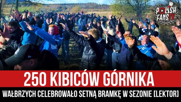 250 kibiców Górnika Wałbrzych celebrowało setną bramkę w sezonie [LEKTOR] (15.11.2020 r.)