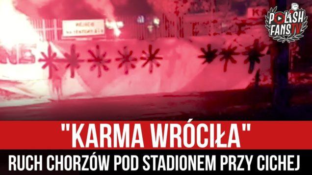 """""""KARMA WRÓCIŁA"""" – Ruch Chorzów pod stadionem przy Cichej (28.11.2020 r.)"""