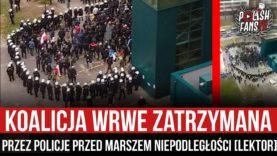 Koalicja WRWE zatrzymana przez policje przed Marszem Niepodległości [LEKTOR] (11.11.2020 r.)