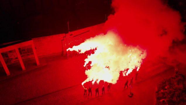 Kibice GKS Katowice na 39. rocznicę pacyfikacji KWK Wujek #Grudzien81Pamietamy