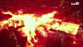 Wielkie Jagiellońskie racowisko w centrum Białegostoku (13.01.2021)