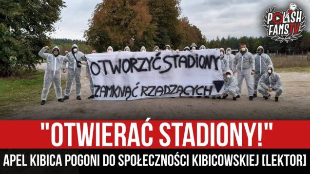 """""""OTWIERAĆ STADIONY!"""" – apel kibica Pogoni do społeczności kibicowskiej [LEKTOR] [07.02.2021 r.)"""