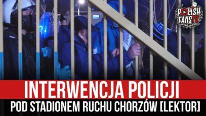 Interwencja policji pod stadionem Ruchu Chorzów [LEKTOR] (13.03.2021 r.)