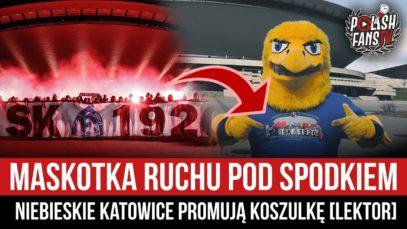 Maskotka Ruchu pod Spodkiem – Niebieskie Katowice promują koszulkę [LEKTOR] (30.03.2021 r.)