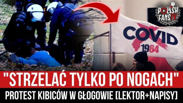"""""""STRZELAĆ TYLKO PO NOGACH"""" – protest kibiców w Głogowie [LEKTOR+NAPISY] (28.03.2021 r.)"""