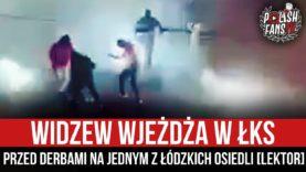 Widzew wjeżdża w ŁKS przed derbami na jednym z łódzkich osiedli [LEKTOR] (05.03.2021 r.)