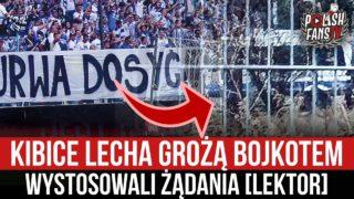 Kibice Lecha grożą bojkotem – wystosowali żądania [LEKTOR] (10.04.2021 r.)