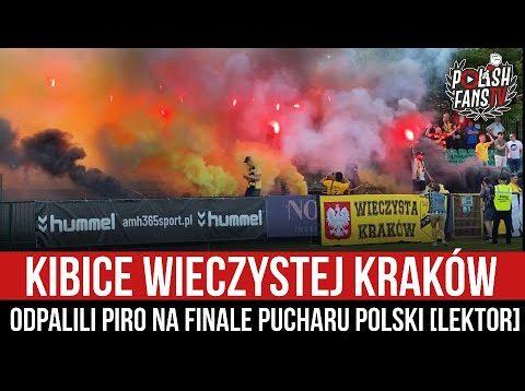 Kibice Wieczystej Kraków odpalili piro na finale Pucharu Polski [LEKTOR] (16.06.2021 r.)