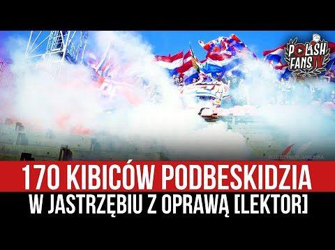 170 kibiców Podbeskidzia w Jastrzębiu z oprawą [LEKTOR] (05.09.2021 r.)