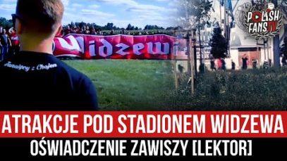 Atrakcje pod stadionem Widzewa – oświadczenie Zawiszy [LEKTOR] (06.09.2021 r.)