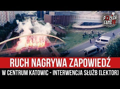 Ruch nagrywa zapowiedź w centrum Katowic – interwencja służb [LEKTOR] (07.09.2021 r.)