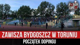 Zawisza Bydgoszcz w Toruniu – początek dopingu (12.09.2021 r.)