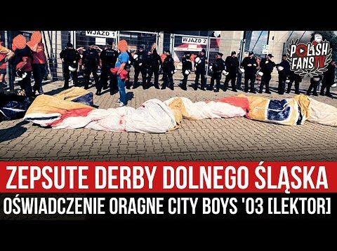 Zepsute derby Dolnego Śląska – oświadczenie Orange City Boys '03 [LEKTOR] (02.09.2021 r.)